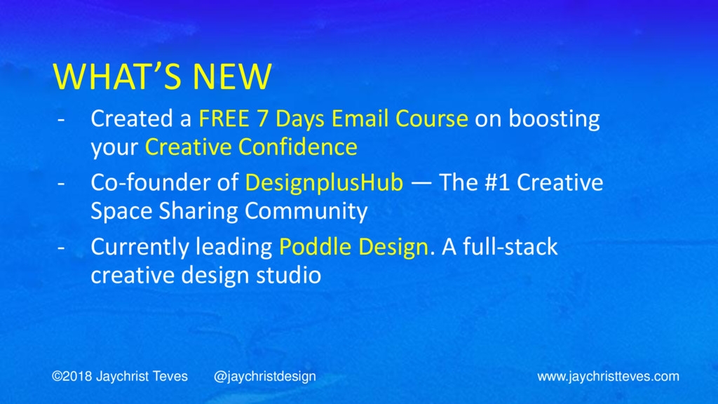 WHAT'S NEW - Created a FREE 7 Days Email Course...