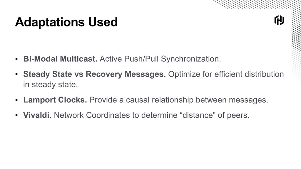 Adaptations Used ▪ Bi-Modal Multicast. Active P...