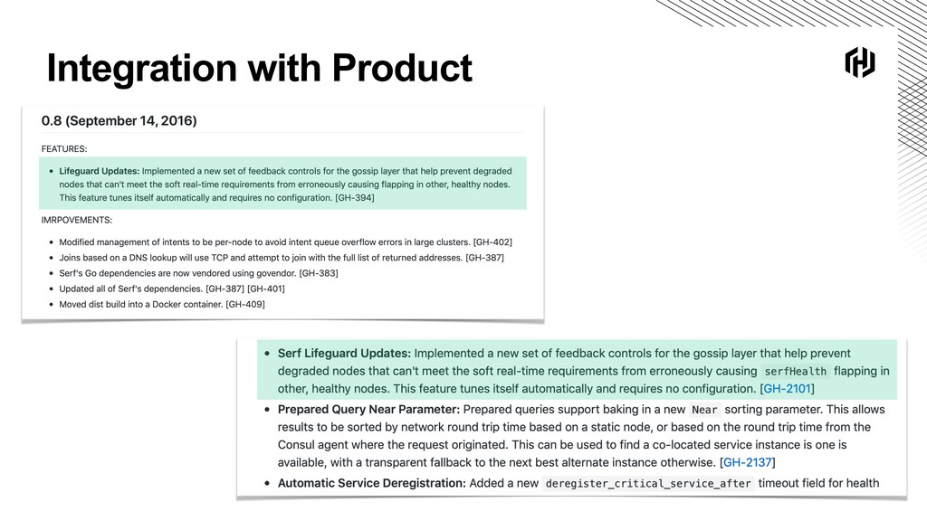 Integration with Product
