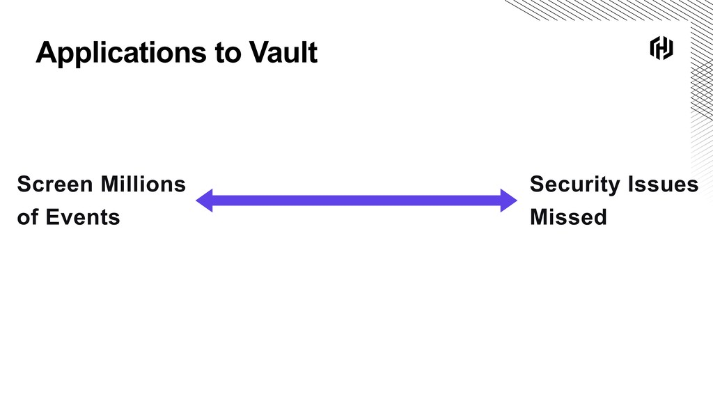 Applications to Vault Screen Millions of Events...