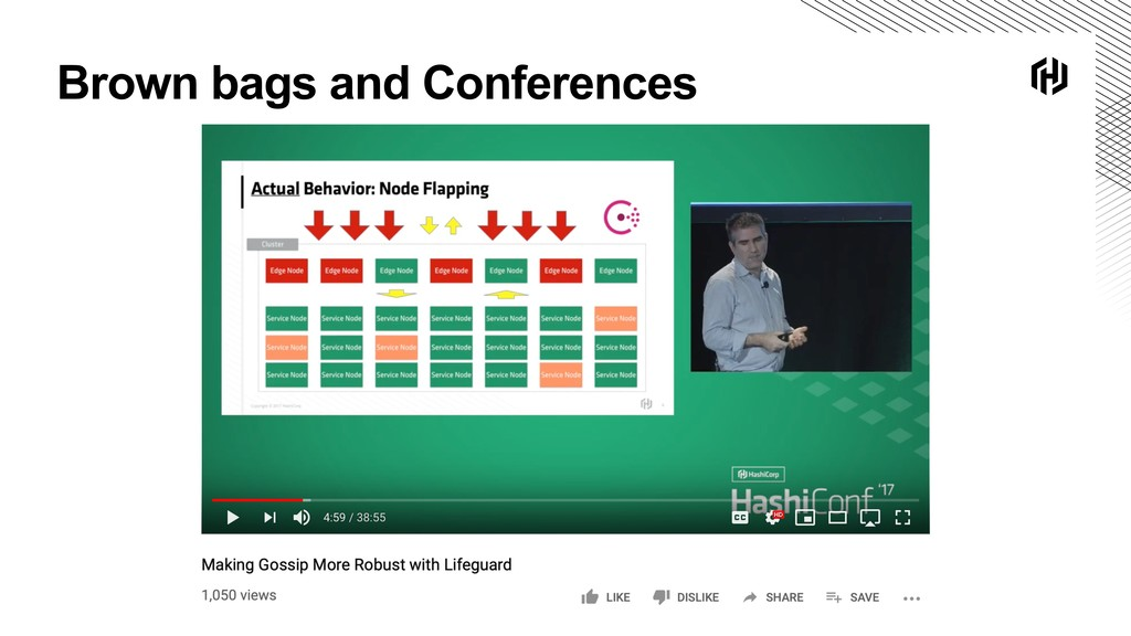 Brown bags and Conferences