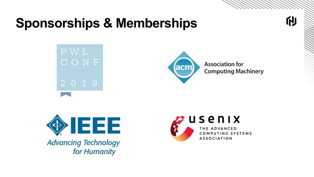 Sponsorships & Memberships