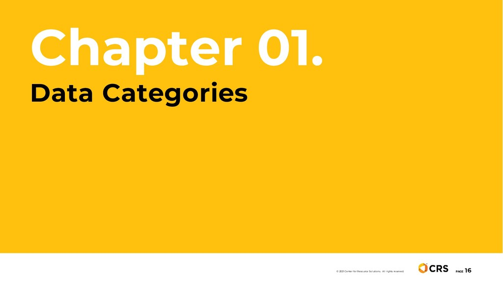 Chapter 01. Data Categories PAGE 16 © 2021 Cent...