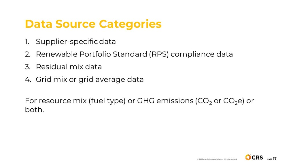 1. Supplier-specific data 2. Renewable Portfoli...
