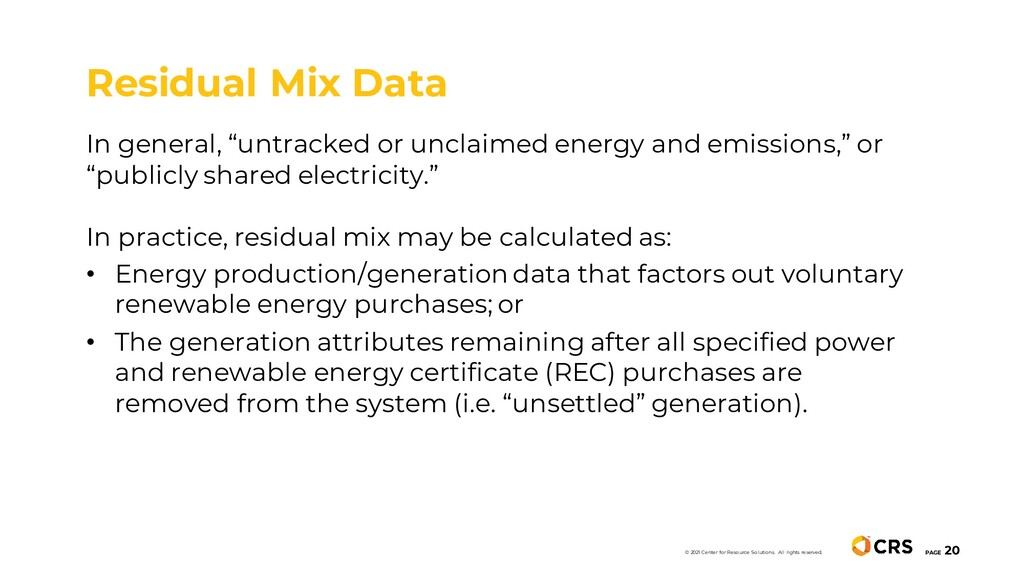 "In general, ""untracked or unclaimed energy and ..."