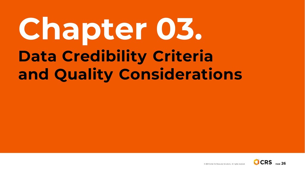 Chapter 03. Data Credibility Criteria and Quali...