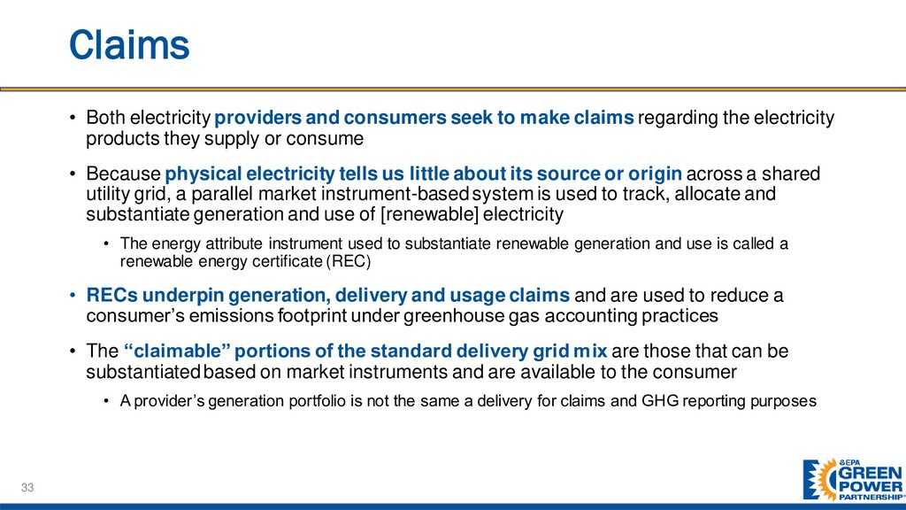 Claims • Both electricity providers and consume...