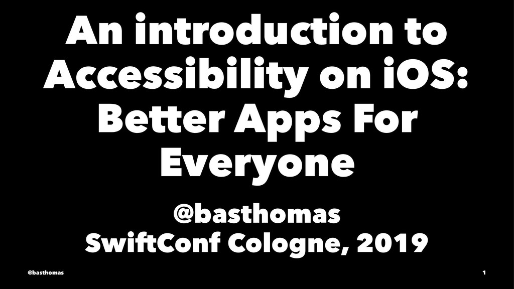 An introduction to Accessibility on iOS: Better...