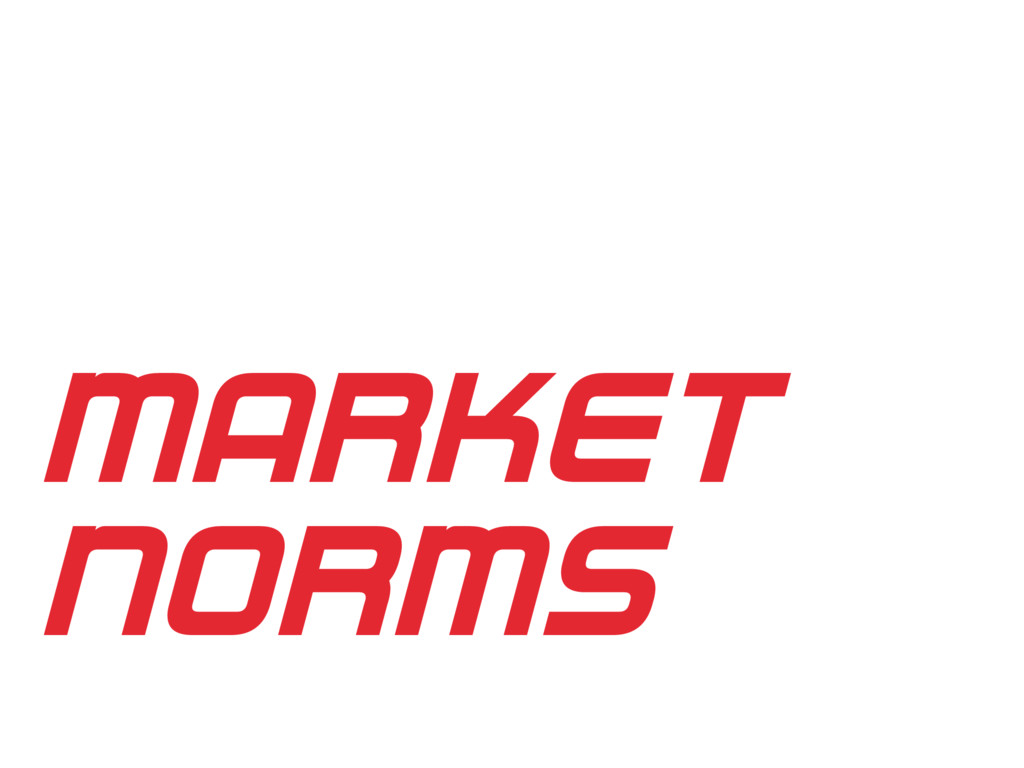 MARKET NORMS