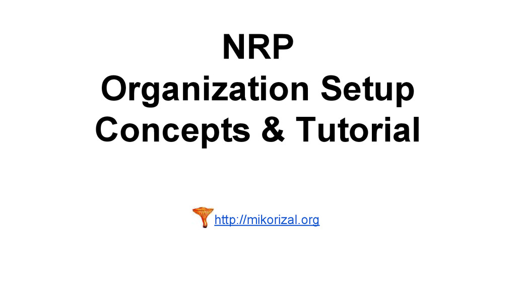 NRP Organization Setup Concepts & Tutorial http...