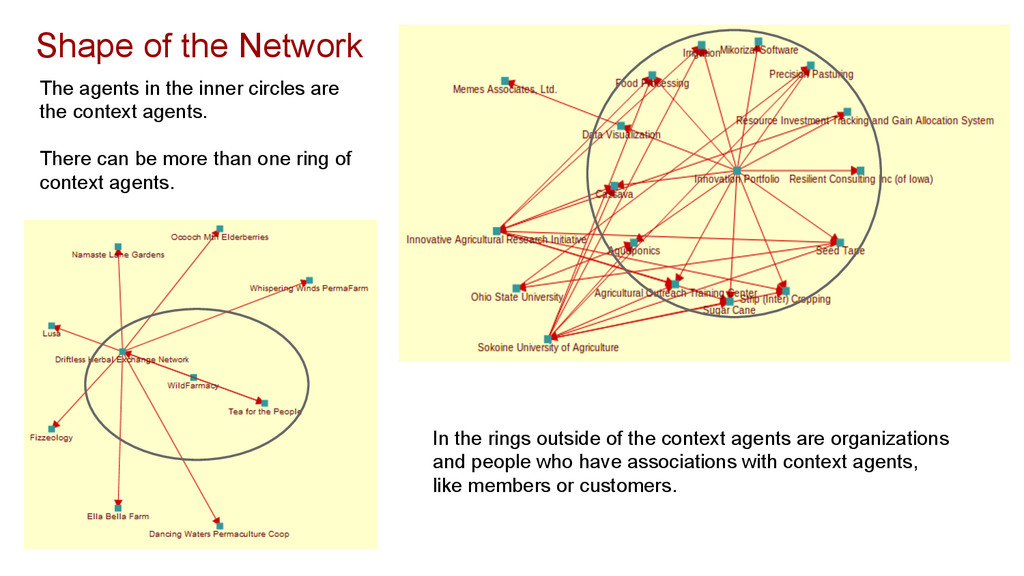 Shape of the Network The agents in the inner ci...