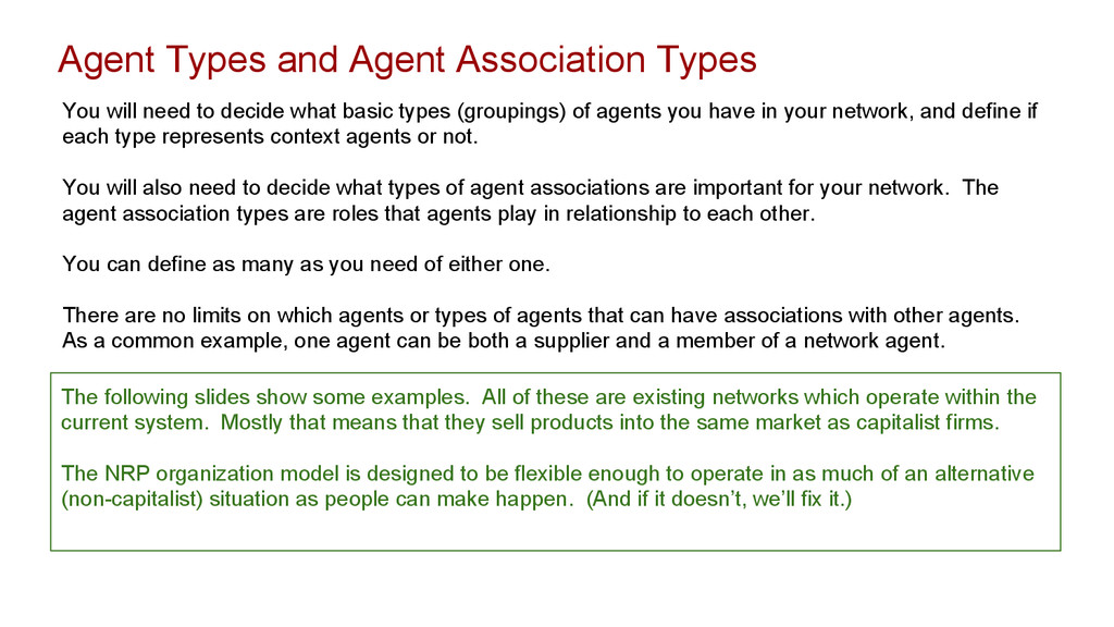 Agent Types and Agent Association Types You wil...