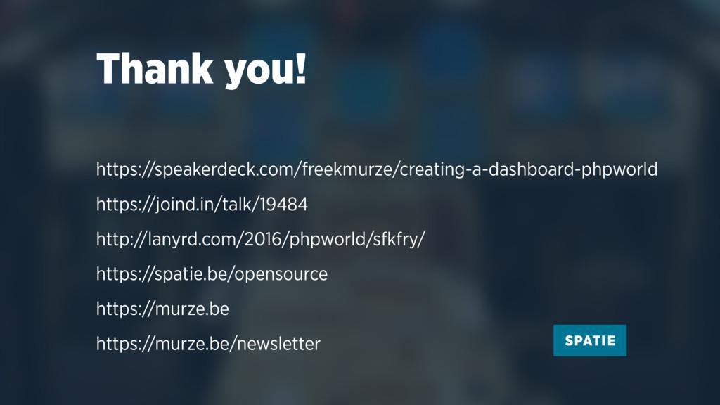 Thank you! https://speakerdeck.com/freekmurze/c...
