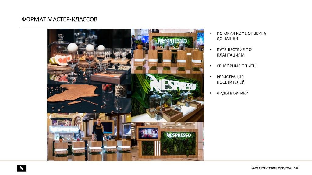 ФОРМАТ МАСТЕР-КЛАССОВ P.14 NAME PRESENTATION | ...
