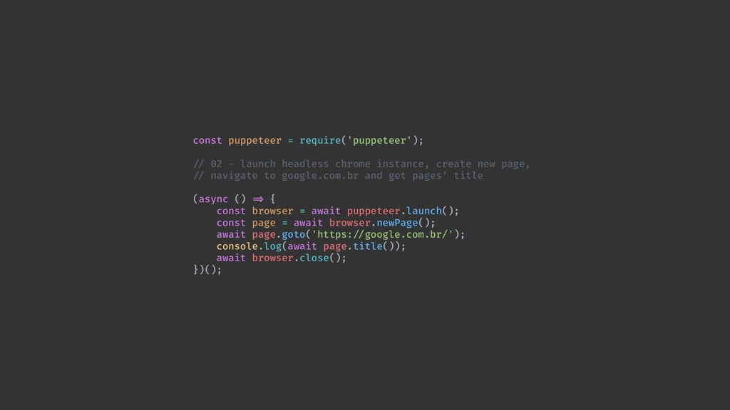 const puppeteer = require('puppeteer'); !// 02 ...