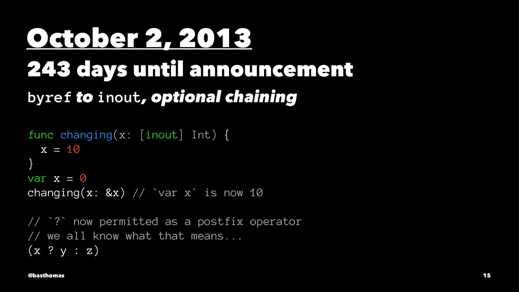 October 2, 2013 243 days until announcement byr...