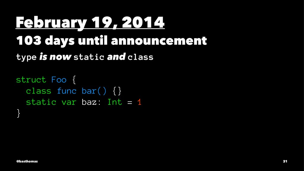 February 19, 2014 103 days until announcement t...