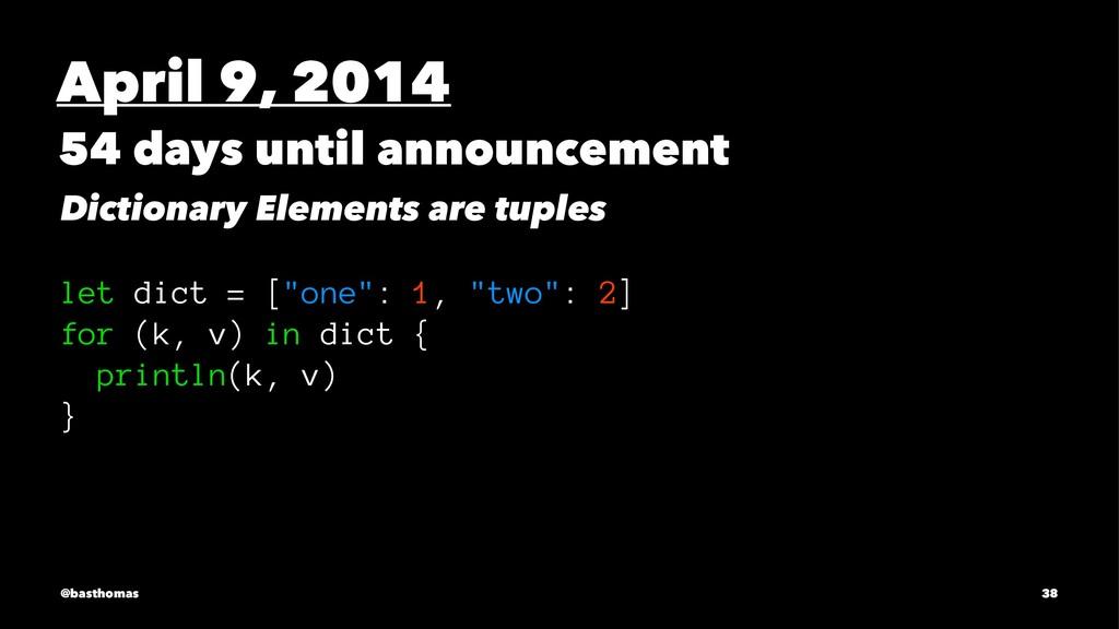 April 9, 2014 54 days until announcement Dictio...