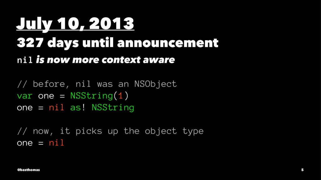 July 10, 2013 327 days until announcement nil i...
