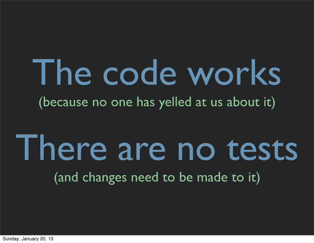 The code works (because no one has yelled at us...