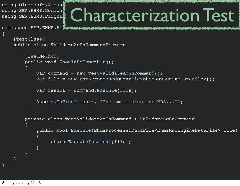 using Microsoft.VisualStudio.TestTools.UnitTest...
