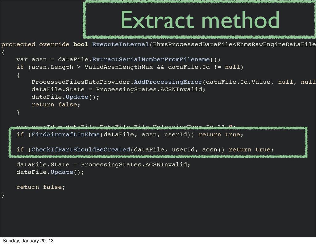 protected override bool ExecuteInternal(EhmsPro...