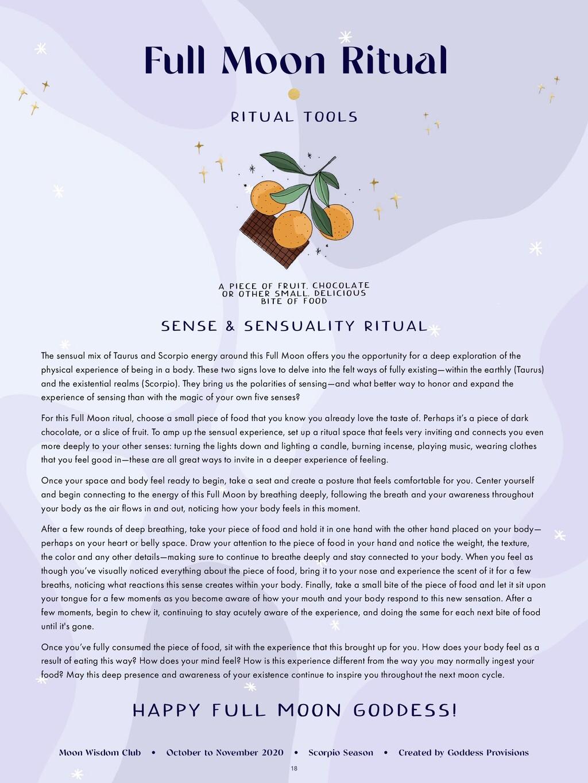 18 Full Moon Ritual SENSE & SENSUALITY RITUAL T...