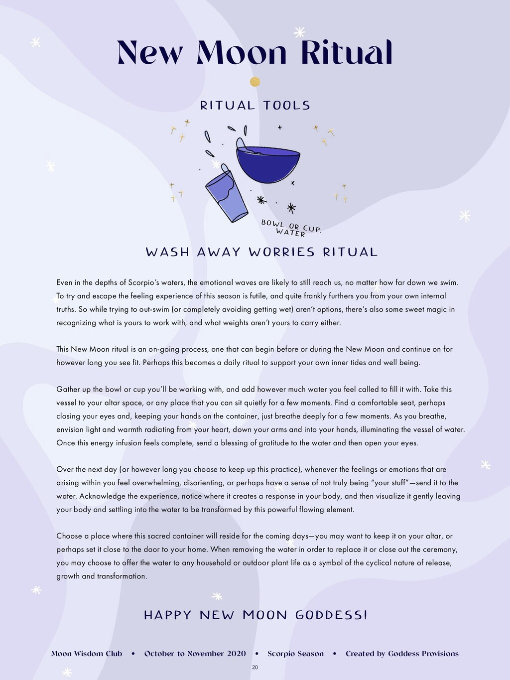 20 WASH AWAY WORRIES RITUAL Even in the depths ...