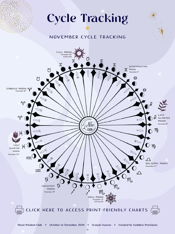 25 Cycle Tracking NOVEMBER CYCLE TRACKING CLICK...