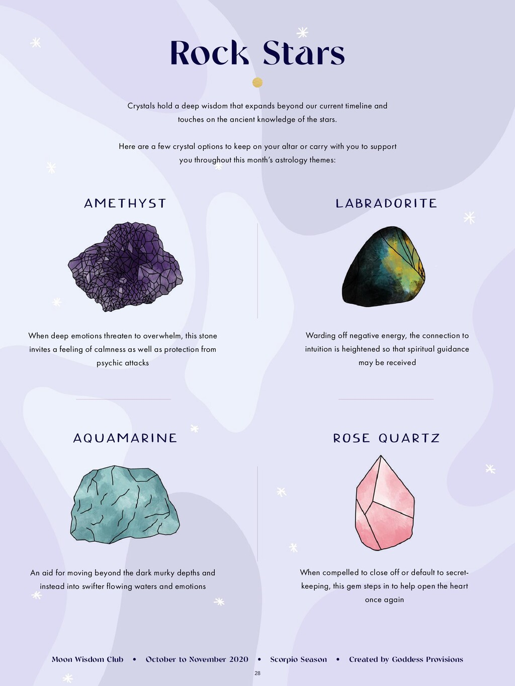 28 Rock Stars Crystals hold a deep wisdom that ...