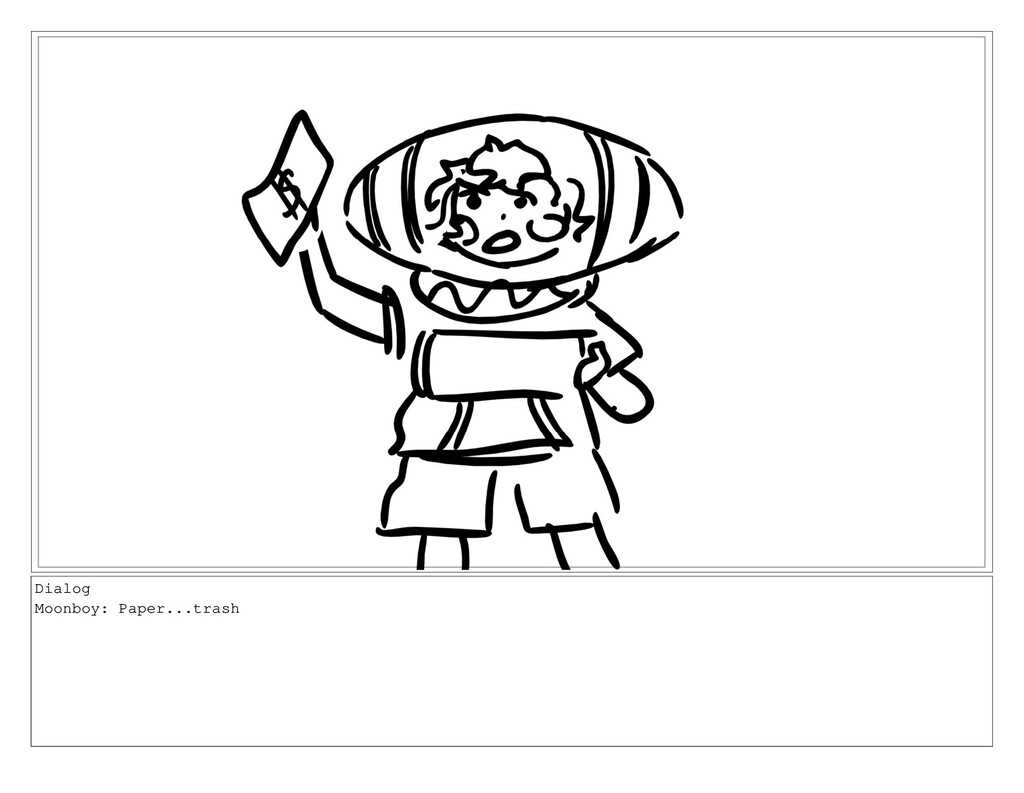 Dialog Moonboy: Paper...trash
