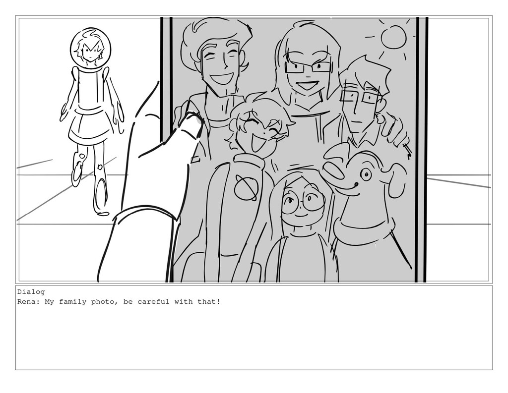 Dialog Rena: My family photo, be careful with t...