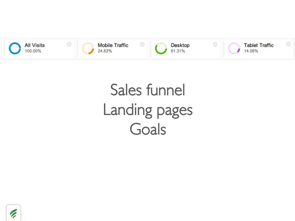 Sales funnel  Landing pages  Goals
