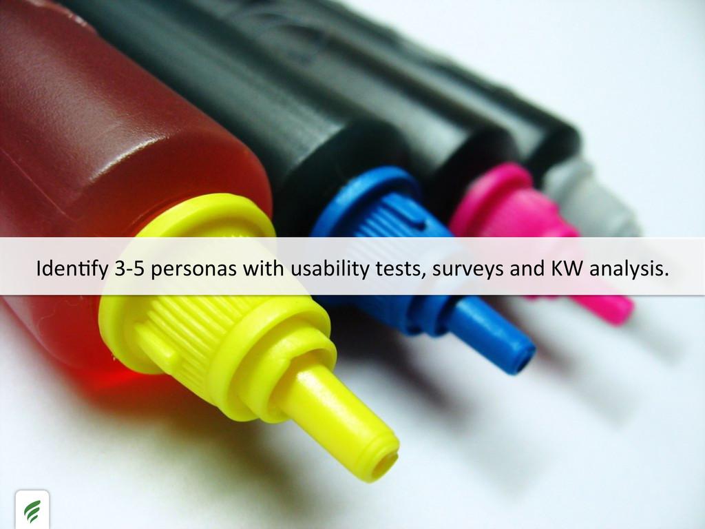 IdenHfy 3-‐5 personas with usabili...