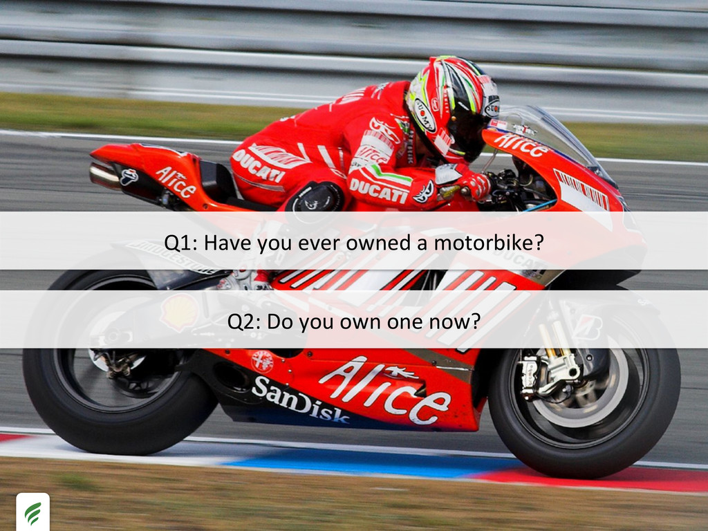 Q2: Do you own one now?  Q1:...