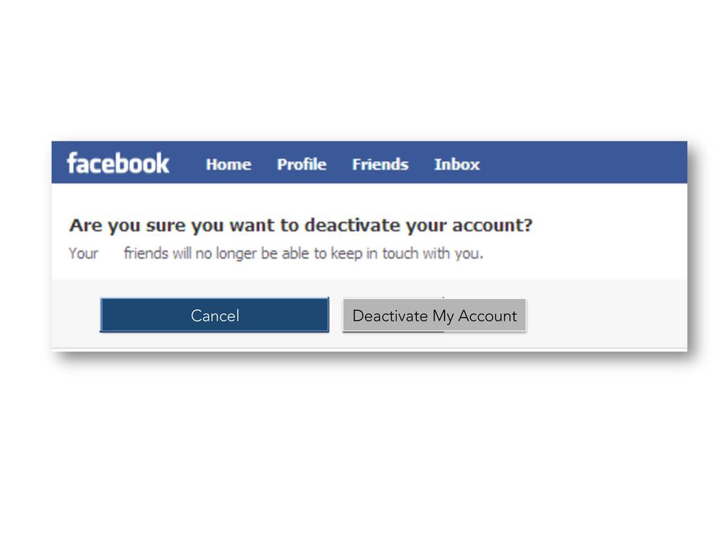 Cancel Deactivate My Account