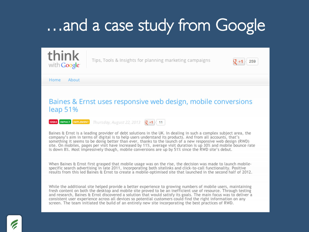 …and a case study from Google