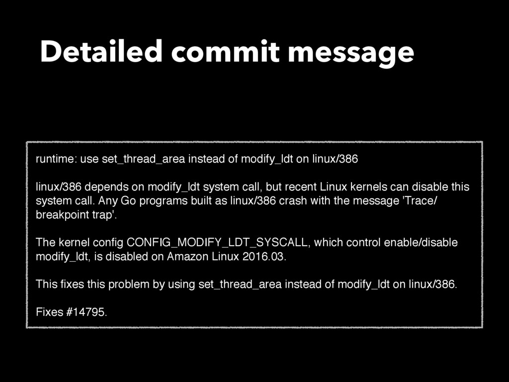 Detailed commit message runtime: use set_thread...