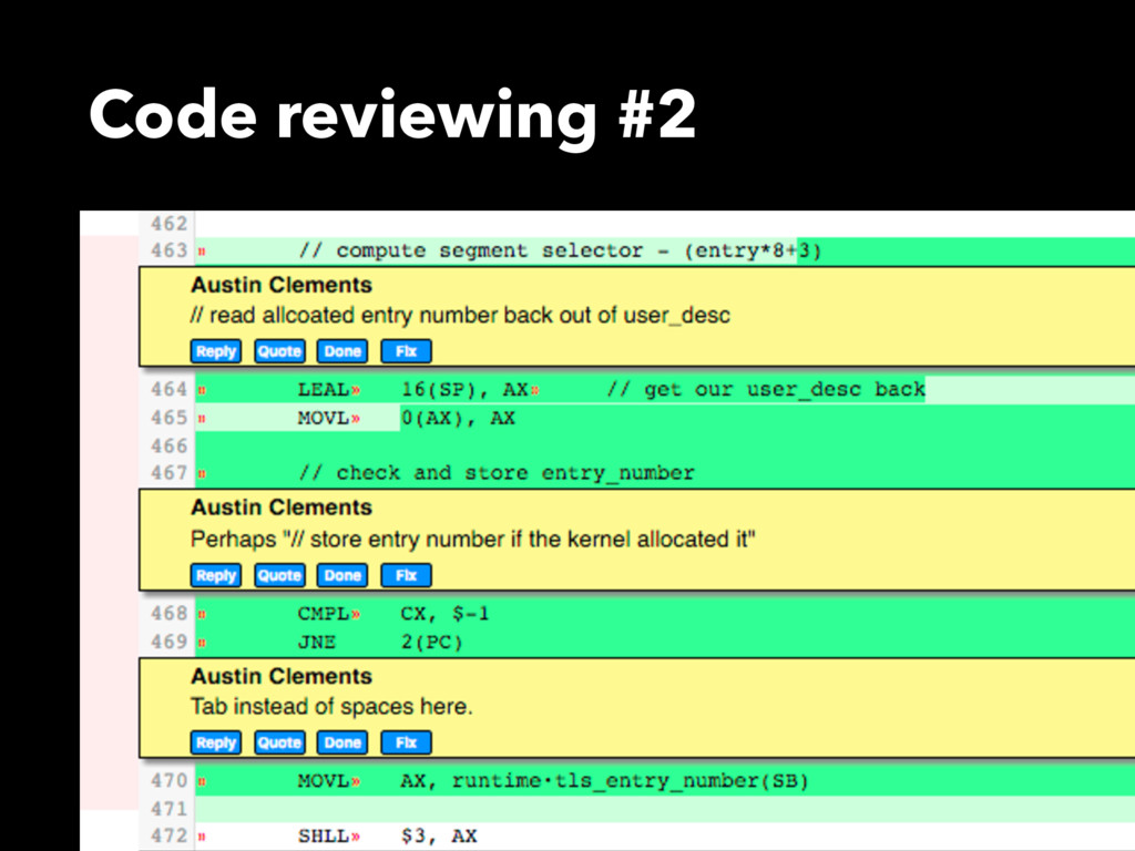 Code reviewing #2