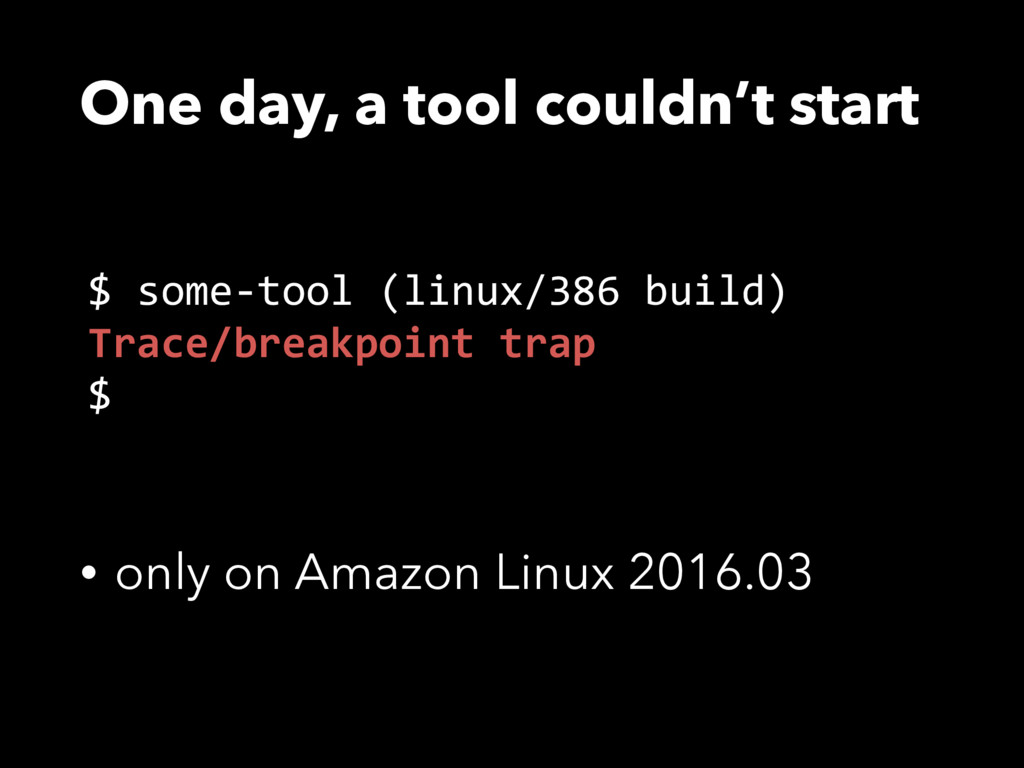 One day, a tool couldn't start • only on Amazon...