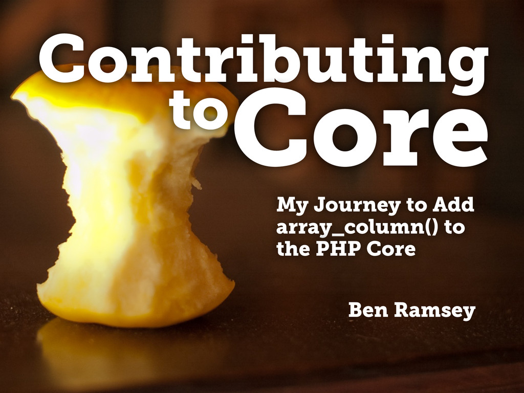 Contributing Ben Ramsey toCore My Journey to Ad...