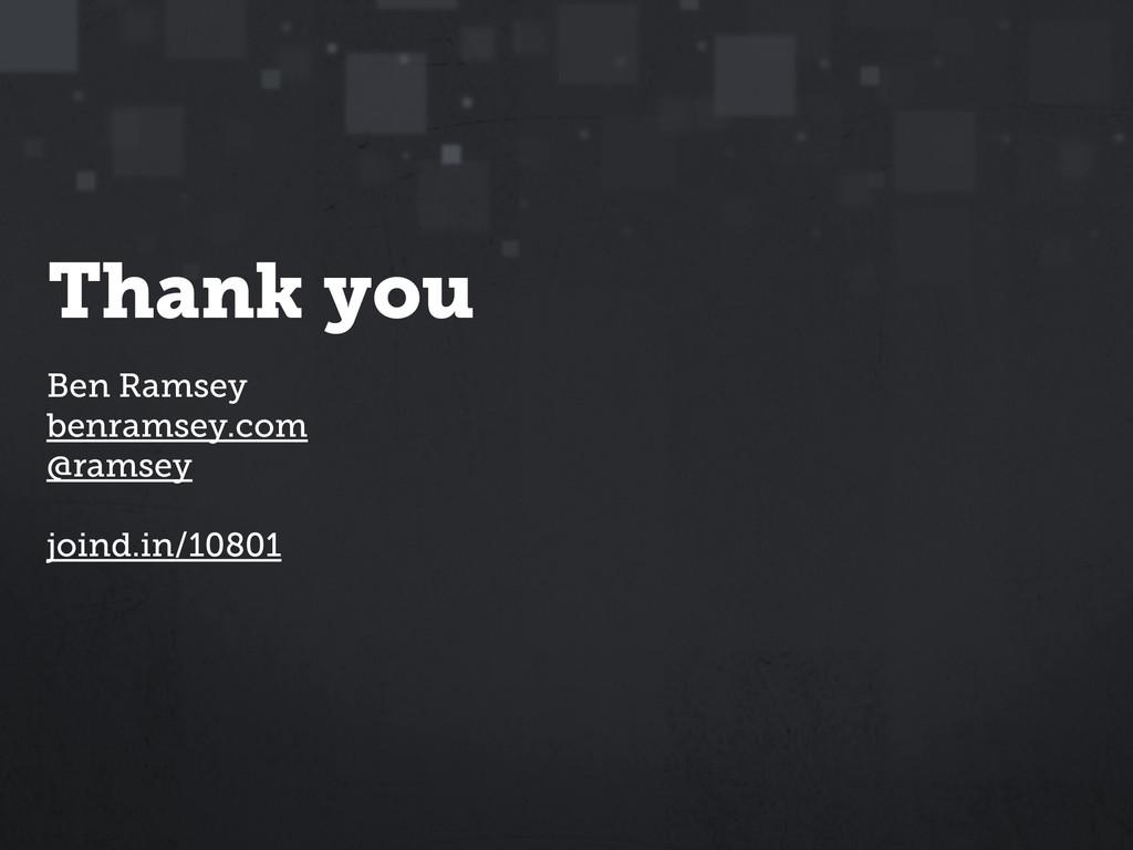 Ben Ramsey benramsey.com @ramsey ! joind.in/10...