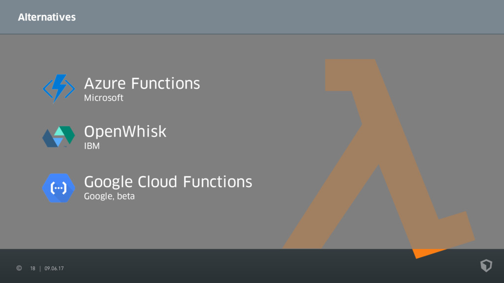 18 09.06.17 Alternatives Azure Functions Micros...