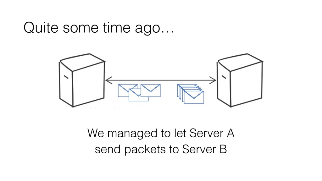 Quite some time ago… We managed to let Server A...