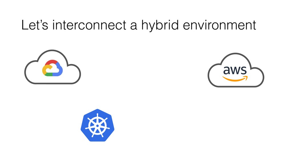 Let's interconnect a hybrid environment