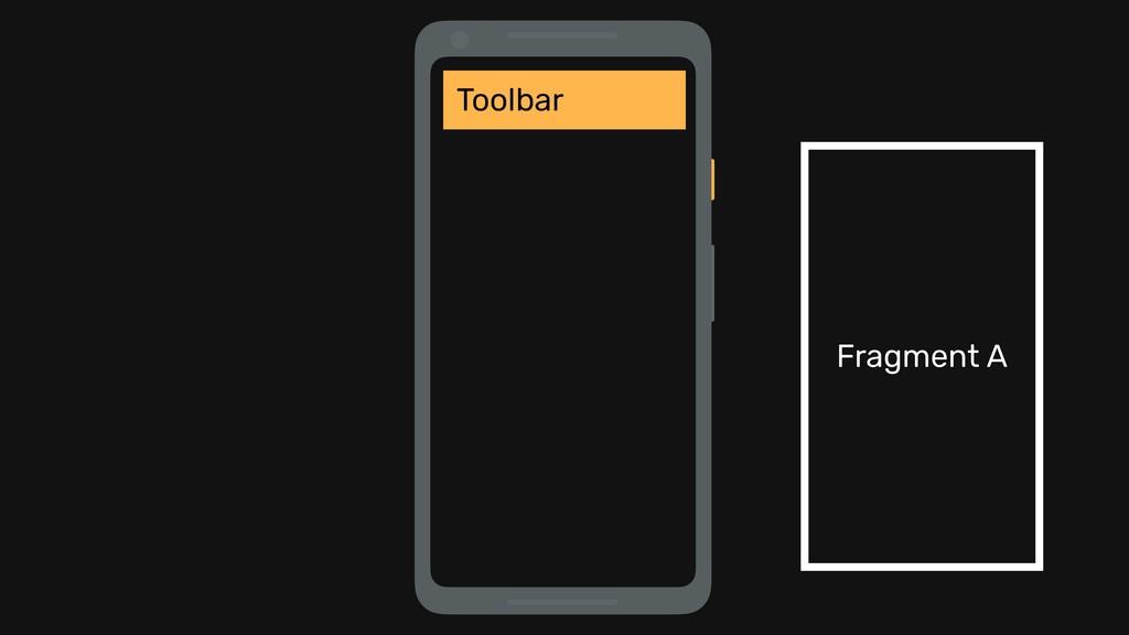 Toolbar Fragment A