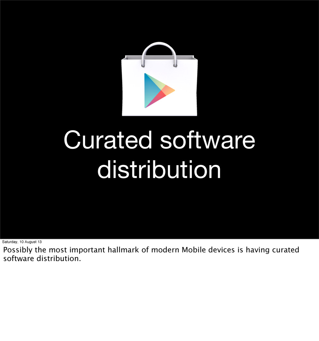 Curated software distribution Saturday, 10 Augu...