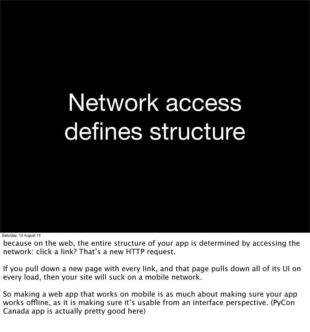 Network access defines structure Saturday, 10 Au...