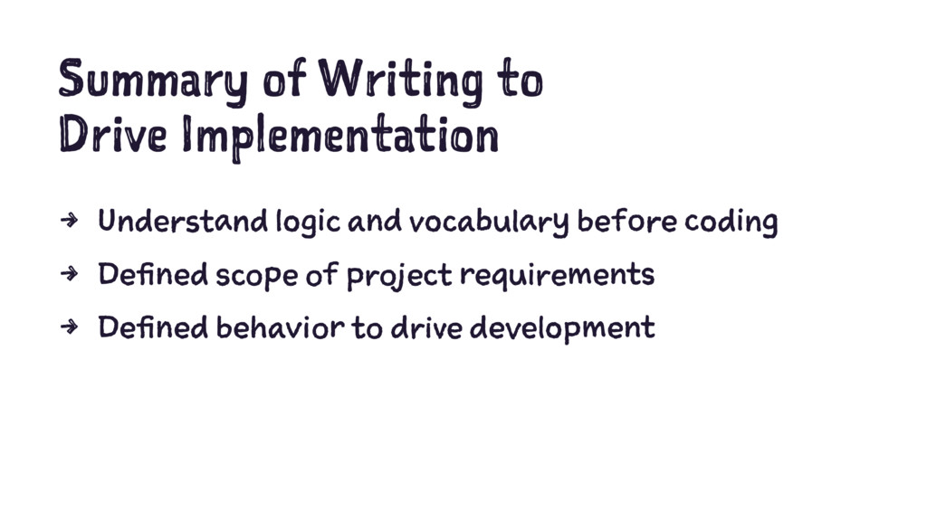 Summary of Writing to Drive Implementation 4 Un...