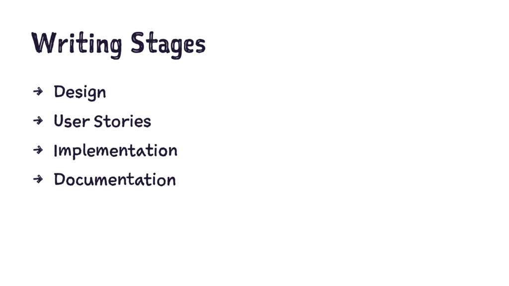 Writing Stages 4 Design 4 User Stories 4 Implem...